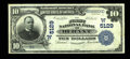 National Bank Notes:Oklahoma, Durant, OK - $10 1902 Plain Back Fr. 632 The First NB Ch. # (W)5129. ...