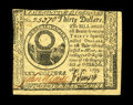 Colonial Notes:Continental Congress Issues, Continental Currency May 10, 1775 $30 Choice New. A Gem but for thecentering, with the top and left margins touching the de...