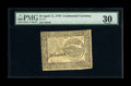 Colonial Notes:Continental Congress Issues, Continental Currency April 11, 1778 $4 PMG Very Fine 30. A very rare high-grade Four Dollar example from the only rare issue...