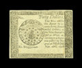 Colonial Notes:Continental Congress Issues, Continental Currency September 26, 1778 $40 Blue CounterfeitDetector Choice About New. Sharply printed, well margined and v...