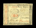 Colonial Notes:Continental Congress Issues, Continental Currency January 14, 1779 $40 Choice New. Not terriblycentered but, very tight at bottom right. It is a bright ...