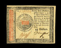 Colonial Notes:Continental Congress Issues, Continental Currency January 14, 1779 $45 Choice About New. A veryfaint vertical fold is all that separates this lovely Con...
