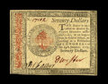 Colonial Notes:Continental Congress Issues, Continental Currency January 14, 1779 $70 Choice New. A muchtougher high denomination Continental that has great embossing,...