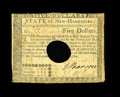 Colonial Notes:New Hampshire, New Hampshire April 29, 1780 $5 Fine-Very Fine. A moderatelycirculated example of this denomination that has the typical ho...