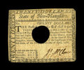 Colonial Notes:New Hampshire, New Hampshire April 29, 1780 $20 Extremely Fine. This problem-freeexample is hole cancelled though wholly original....