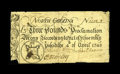 Colonial Notes:North Carolina, North Carolina April 4, 1748 £3 Fine. There are a few random splits and a few pieces out of the edges, but the note has had...