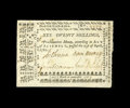 Colonial Notes:North Carolina, North Carolina April 23, 1761 20s Very Fine-Extremely Fine. This isa bright note with light quarter folds and it is closer ...