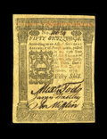 Colonial Notes:Pennsylvania, Pennsylvania October 1, 1773 50s Choice New. This farm scene notehas three bold signatures....