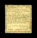 Colonial Notes:Rhode Island, Rhode Island May 22, 1777 $1/6 Very Fine. This is the only note wehave been able to offer at HCAA of this design. The note ...