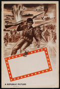"Movie Posters:War, Republic Studios WWII Stock Poster (Republic, 1948). One Sheet (27""X 41""). War. ..."