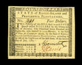 Colonial Notes:Rhode Island, Rhode Island July 2, 1780 $4 Choice New. This is a very commonissue, but generally found as a remainder with the guarantee ...