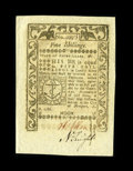 Colonial Notes:Rhode Island, Rhode Island May 1786 5s Gem New. A wonderfully margined and wellembossed example from this final Rhode Island issue....