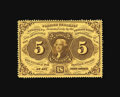 Fractional Currency:First Issue, Fr. 1228 5¢ First Issue Gem New. A beautifully margined note that is destined to find its way into a high-grade third party ...
