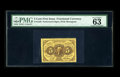 """Fractional Currency:First Issue, Fr. 1228 5¢ First Issue PMG Choice Uncirculated 63 EPQ. PMG has commented """"Exceptional Paper Quality"""" on this perforated 5¢ ..."""