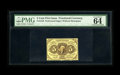 Fractional Currency:First Issue, Fr. 1229 5c First Issue PMG Choice Uncirculated 64 EPQ. A fresh and vibrantly colored example of the scarce no monogram vari...