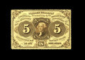 Fractional Currency:First Issue, Fr. 1229 5c First Issue Very Choice New. Beautiful deep, fullperforations all the way around, along with ideal color and pe...