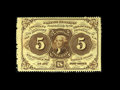 Fractional Currency:First Issue, Fr. 1229 5c First Issue Choice New. Extra wide margins are noted on the right and left. Still all four edges are perforated....