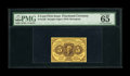 Fractional Currency:First Issue, Fr. 1230 5c First Issue PMG Gem Uncirculated 65 EPQ. Thisattractive note has wonderful margins that surround the frameline...
