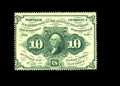 Fractional Currency:First Issue, Fr. 1240 10c First Issue Very Choice New. This strictly originalpiece has full, deep perforations all the way around as wel...