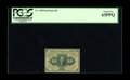 Fr. 1240 10¢ First Issue PCGS Choice New 63PPQ. Well perforated all the way around, but the perforations at the lef...