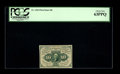 Fractional Currency:First Issue, Fr. 1243 10c First Issue PCGS Choice New 63PPQ. This pretty little straight-edge no monogram note would rate the full Gem gr...
