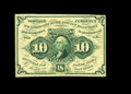 Fractional Currency:First Issue, Fr. 1243 10c First Issue Choice New. Without Monogram notes of this design are much scarcer than their With Monogram counter...