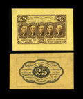 Fractional Currency:First Issue, Fr. 1282SP 25¢ First Issue Pair Gem New. The face is quite wide, anabsolutely Superb piece; the back is fully wide left-to-... (Total:2 notes)