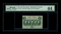 Fractional Currency:First Issue, Fr. 1310 50c First Issue PMG Choice Uncirculated 64. A superiorexample of this more challenging first issue perforated type...