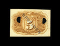 Fractional Currency:Second Issue, Milton 2E5R.1j 5c Second Issue Experimental Gem New. This Fiber Paper Five Cent Back is a perfect Gem, with nice embossing, ...