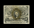 Fractional Currency:Second Issue, Fr. 1235 5¢ Second Issue Choice New. The typical fiber paper wrinkles could easily be mistaken for folds on this note, but t...