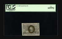 Fr. 1283 25¢ Second Issue PCGS New 62PPQ. The colors are terrific on this lilac-backed Second Issue 25¢. A tip...