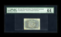 Fractional Currency:Second Issue, Fr. 1283SP 25c Second Issue Narrow Margin Back Specimen PMG Choice Uncirculated 64 EPQ. A few light areas of foxing at left ...