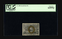 Fr. 1286 25¢ Second Issue PCGS Choice New 63PPQ. Tight across the bottom, but in all other respects a full Gem exam...