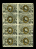 Fractional Currency:Second Issue, Fr. 1288 25c Second Issue Block of Eight Choice New. This is a high-grade block of a Friedberg number that we have not had a...