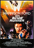 "Miscellaneous:Movie Posters, Blade Runner (Warner Brothers, 1982). German A1 (23"" X 33""). Although it was a box office flop, Ridley Scott's dyst..."