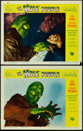 "Miscellaneous:Movie Posters, The Mole People (Universal, 1956). Lobby Cards (2) (11"" X14""). Some of the best sci-fi lobby cards of the 1950s, f..."