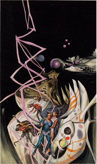JOSH KIRBY (British, 1928-2001) The Gates of Time / Dwellers of the Deep (Ace Double), paperback cover
