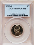 Proof Jefferson Nickels: , 1989-S 5C PR69 Deep Cameo PCGS. PCGS Population (2496/98). NGCCensus: (329/46). Numismedia Wsl. Price for problem free NG...