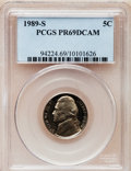 Proof Jefferson Nickels: , 1989-S 5C PR69 Deep Cameo PCGS. PCGS Population (2496/98). NGCCensus: (329/46). Numismedia Wsl. Price for problem free N...