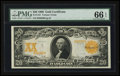 Large Size:Gold Certificates, Fr. 1181 $20 1906 Gold Certificate PMG Gem Uncirculated 66 EPQ.. ...
