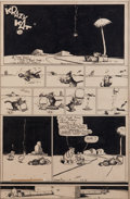 Art:Comic Art - Comic Strip Art, GEORGE HERRIMAN (American, 1880-1944). Krazy Kat, Sunday ComicStrip Original Art (King Features Syndicate, 1939), D...