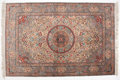 Rugs & Textiles:Other , TABRIZ SILK RUG . 72 x 48-1/2 inches (182.9 x 123.2 cm). ...