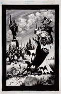 Original Comic Art:Splash Pages, Kelley Jones Batman & Dracula: Red Rain Promotional Illustration Original Art (DC, 1991)....