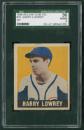 Baseball Cards:Singles (1940-1949), 1948 Leaf Harry Lowrey SP #33 SGC 30 Good 2....