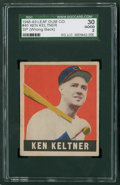 Baseball Cards:Singles (1940-1949), 1948 Leaf Ken Keltner SP #45 SGC 30 Good 2....