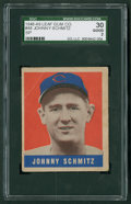 Baseball Cards:Singles (1940-1949), 1948 Leaf Johnny Schmitz SP #48 SGC 30 Good 2....