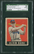 Baseball Cards:Singles (1940-1949), 1948 Leaf Alvin Dark SP #51 SGC 30 Good 2....