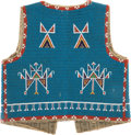 American Indian Art:Beadwork and Quillwork, A SIOUX BEADED HIDE VEST. c. 1920...