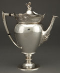 Silver Holloware, American:Pitchers, A GORHAM COIN SILVER COFFEE POT . Gorham Manufacturing Co.,Providence, Rhode Island, circa 1864. Marks: (lion-anchor-G)3...