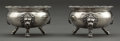 Silver Holloware, American:Open Salts, A PAIR OF GORHAM COIN SILVER OPEN SALTS . Gorham Manufacturing Co.,Providence, Rhode Island, circa 1870 . Marks: (lion-anch... (Total:2 Items)